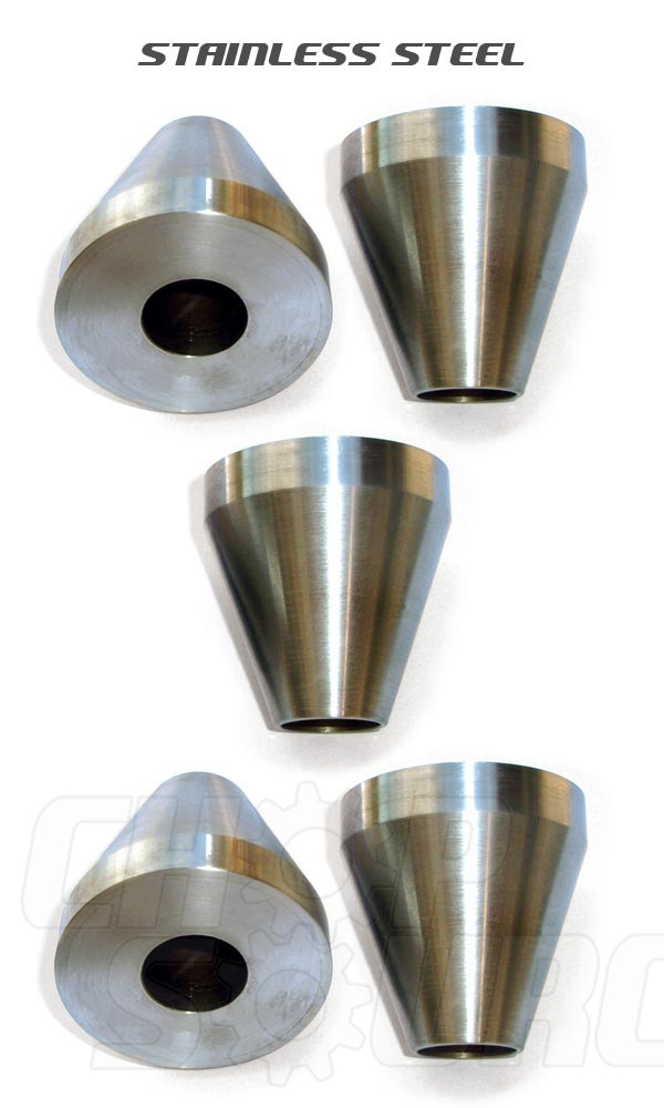 Chop Source - Bicycle Frame Jig Cones - Stainless Steel - Five Cones