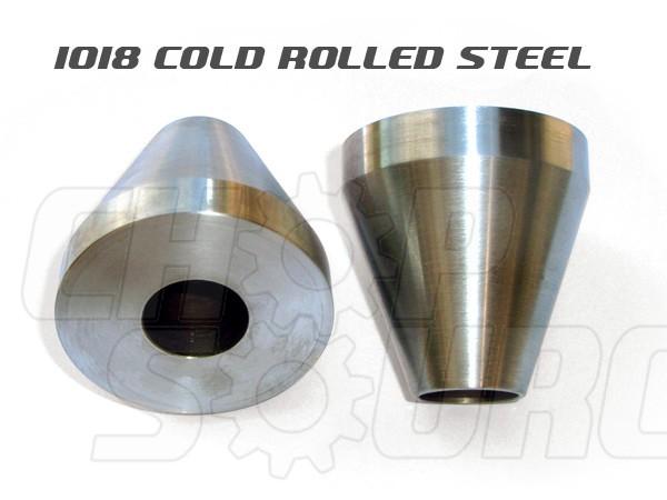 Frame Jig Neck Cones - 1018 Mild Steel - Pair (Neck Cones)