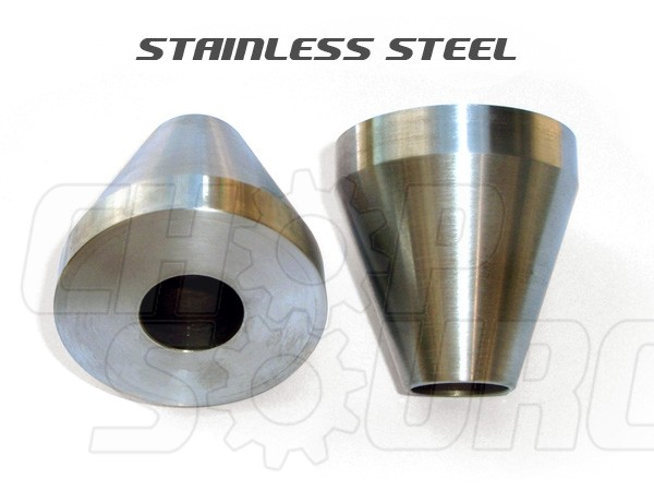 Head Tube Cones (for Bicycle Frame Jig/Fixture) - Stainless Steel - Pair