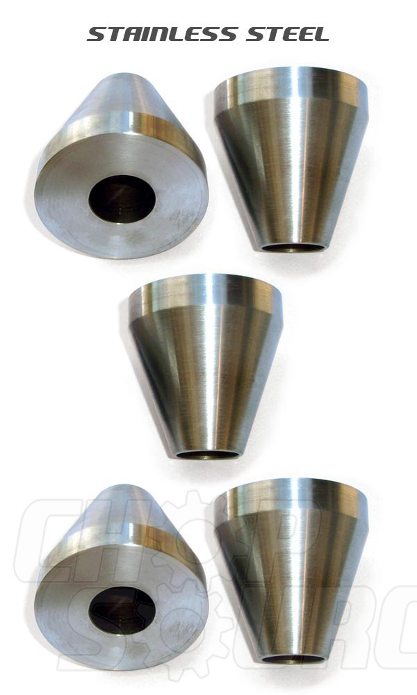 Bicycle Frame Jig Cones - Stainless Steel - Five Cones