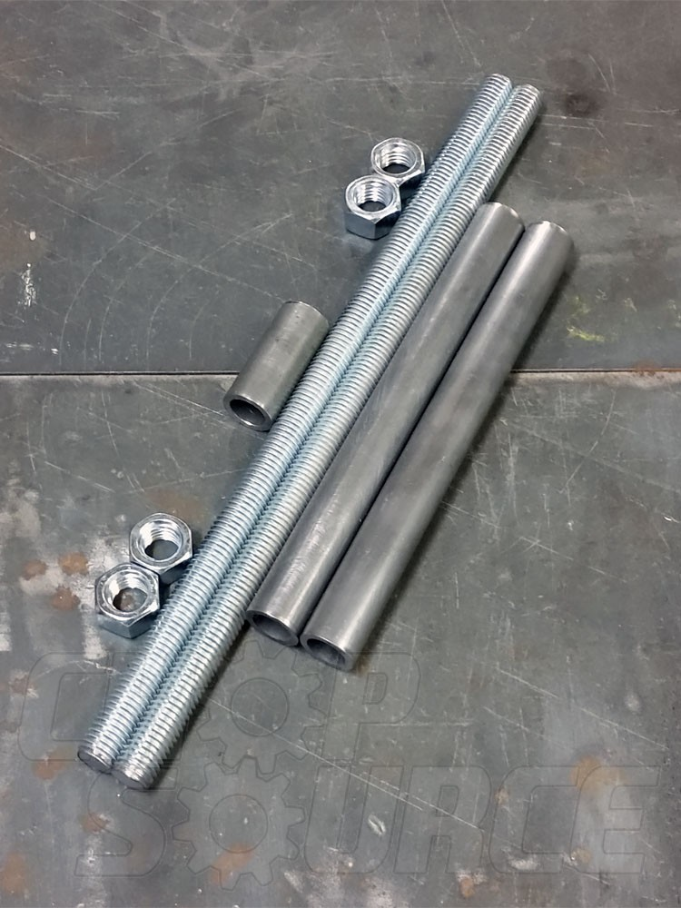 "5/8"" Threaded Rods and Spacer Material for Axle Plate Fixture"