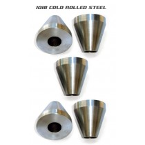 Bicycle Frame Jig Cones - 1018 Mild Steel - Five Cones