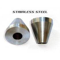 Head Tube Cones (for Bicycle Frame Jig) - Stainless Steel - Pair