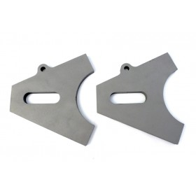 Chopper Axle Plate Set - Style B - 17mm