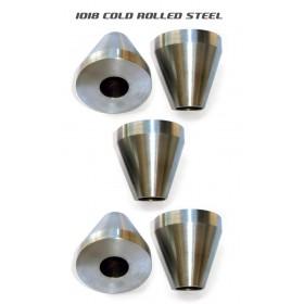 Bicycle Frame Jig Cones - 1018 Mild Steel - Five Cones